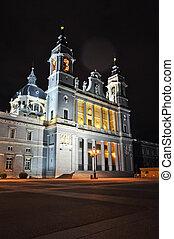 y, museo, subiba, catedral, madrid, españa, cupula, la