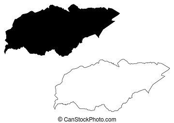 y, république, illustration, tres, uruguay), gribouiller,...