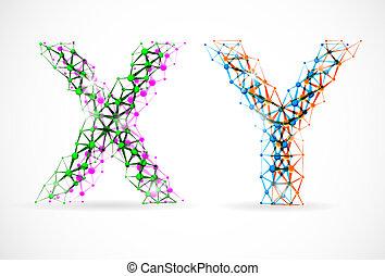 y, x, kromosomer