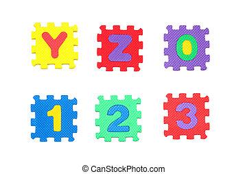 Y, Z, 0, 1, 2, 3,