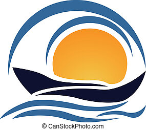 yacht, barca, logotipo