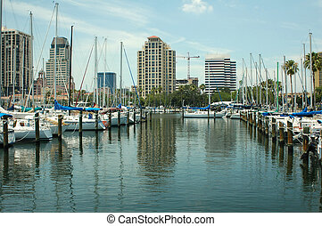 Yacht Basin 2 - The yacht basin in St. Petersburg, Florida.