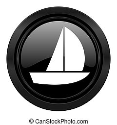 yacht black icon sail sign