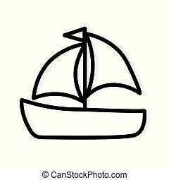 yacht boat icon- vector illustration