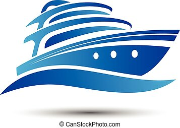 Yacht boat symbol vector. illustration