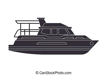 yacht boat transport icon