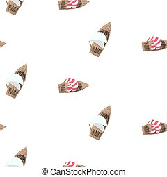 Yacht boats summer seamless vector pattern.