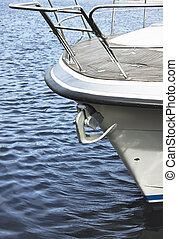 Yacht bow and anchor