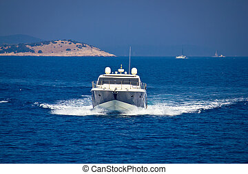 yacht, bule, see ansicht