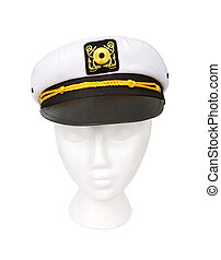 Yacht Captain Hat Isolated with a Clipping Path - Yacht...