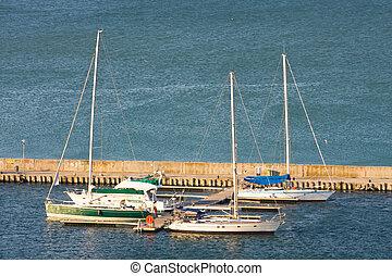 Yacht Club in Balchik on the Black sea coast, Bulgaria.