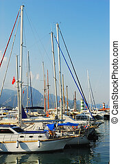 Yacht club in Kemer, Turkey