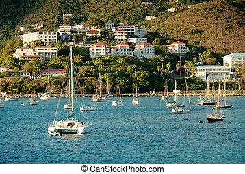 Yacht club in Saint Thomas, U.S. Virgin Islands