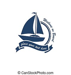yacht club logo vector symbol illustration