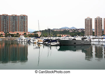 yacht club port in Hong Kong Gold coast