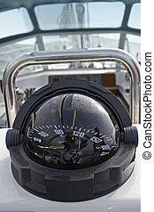 navigation compass for seaworthy sailing boat or yacht