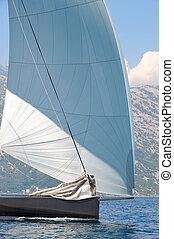 yacht,  détail, voile