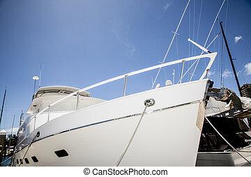 yacht, detail, luxuriös