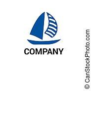yacht, disegno, logotipo