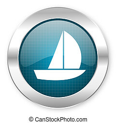 yacht, icône