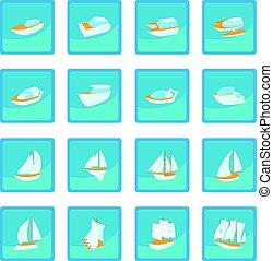 Yacht icon blue app