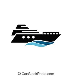 Yacht icon design template vector isolated