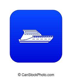 Yacht icon digital blue