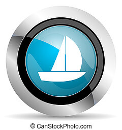 yacht icon sail sign
