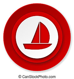 yacht icon, sail sign
