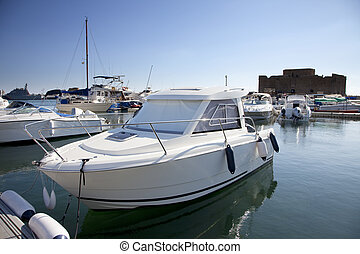 Yacht in the marina