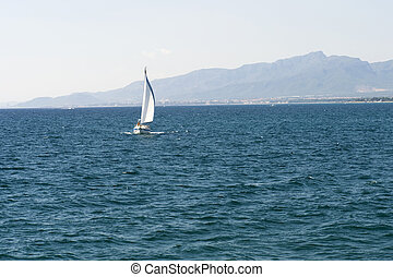 yacht in the mediterranean sea