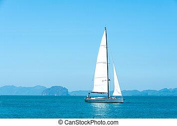 Yacht in the sea of Krabi Thailand