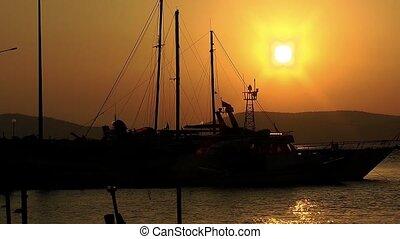 Yacht in the Sunrise