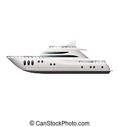 Yacht isolated on white vector