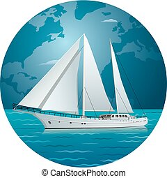 yacht, lusso, navigazione