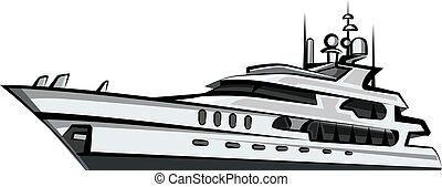 yacht, luxe, moteur