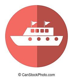 yacht luxury travel destination shadow vector illustration...