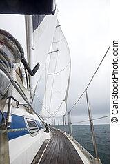 yacht, luxus, meer, segeln
