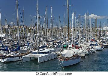 Yacht marina in Barcelona.