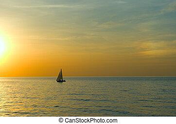 yacht, navigazione, mare