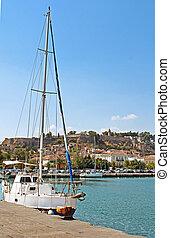 Yacht near Nafplio, Greece