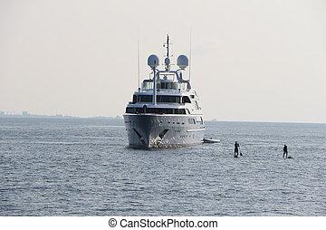 yacht on Maldives water