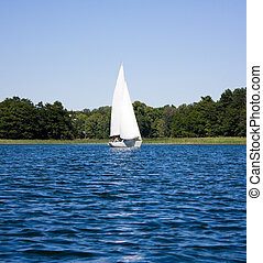 yacht on the lake