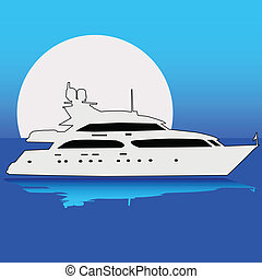 Yacht on the moon