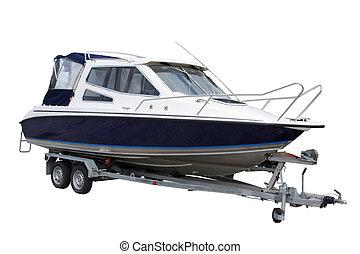 yacht - Motor yacht separately on a white background