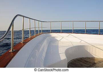 yacht, pont