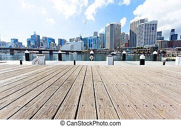 yacht, port, et, cityscape, de, sydney