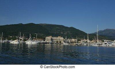 Yacht Porto Montenegro. Elite area of Tivat in Montenegro