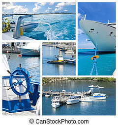 Yacht sailboat collage