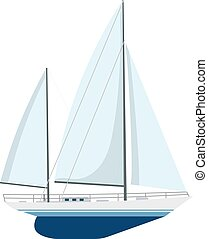 Yacht sailboat or sailing ship,